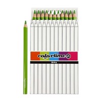Triangular Jumbo colored pencils  Light green, 12pcs