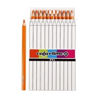 Triangular Jumbo colored pencils  Orange, 12pcs