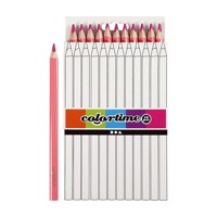 Triangular Jumbo colored pencils  Pink, 12pcs