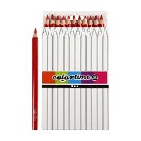 Triangular Jumbo colored pencils  Red, 12pcs