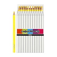Triangular Jumbo colored pencils  Yellow, 12pcs