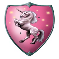Wooden shield for kids unicorn 49x32cm