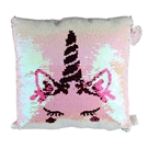 Unicorn cushion with sequins
