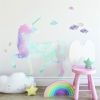 UNICORN GALAXY Gigant Wallsticker med glitter