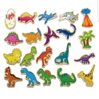 Viga Wooden Magnets Dinosaur