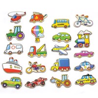 Viga Wooden Magnets Vehicles