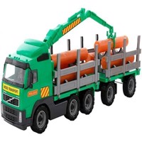 Wader - Volvo PowerTruck - Timber Truck with Trailer