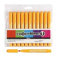 Warm yellow Jumbo pens, 12pcs
