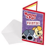 Woezel amp Pip Invitations, 8pcs