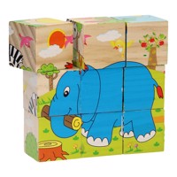Wooden Block Puzzle Wild Animals 9Pcs