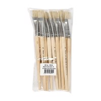 Wooden brushes  Nr 14, Short handle, 12st