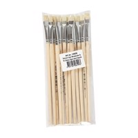 Wooden brushes  Nr 8, Short handle, 12st