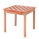 Wooden Chess and Dam table
