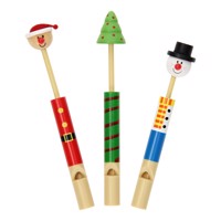 Wooden christmas flute