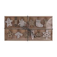 Wooden Clothespin Christmas, 12st