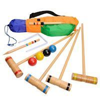 Wooden Croquet Set for 4 players