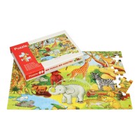 Wooden jigsaw puzzle wild animals 88 st