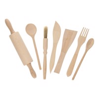 Wooden Kitchen Utensils, 7 Pcs