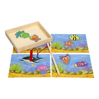 Wooden magnetic fishgame