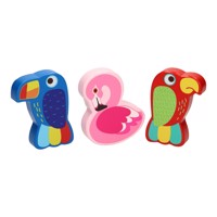 Wooden Mini Maracas Tropical Bird