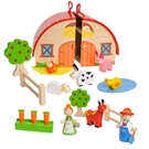 Wooden Portable Farm Playset