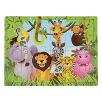 Wooden puzzle cheerful safari animals 24 pcs