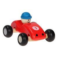 Wooden Race Car Red