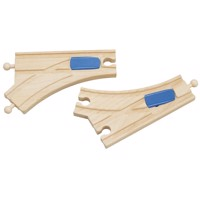 Wooden Rails Bend Swith Switch 2Pieces