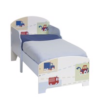 Worlds apart wooden junior bed w vehicles 140Cm