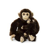 WWF Plush  Chimpanzee with Baby, 30cm