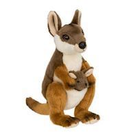 WWF Plush-Walibi with young, 19 cm