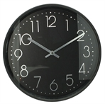 Wall clock black, 30cm